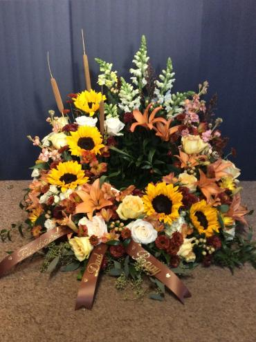 Urn Wreath in Muted Fall Colors