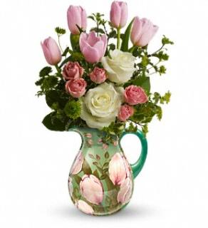 Spring Tulip Pitcher