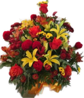 Fall color Pedestal Arrangement