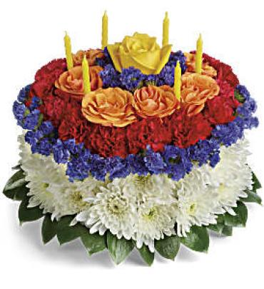 Your Wish Is Granted Birthday Cake Bouquet