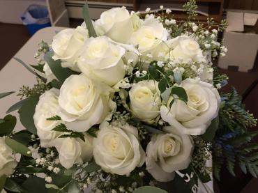 Pure White Bridal Bouquet