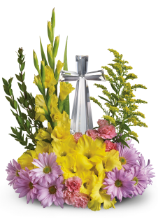 Crystal Cross Bouquet