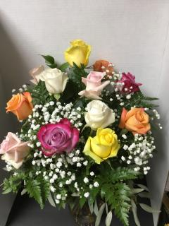 Multi Colored Rose Bouquet